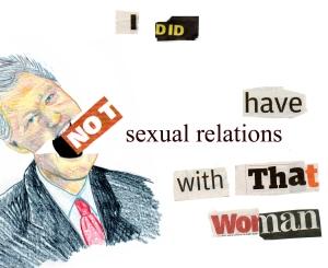 Bill Clinton swallows his words