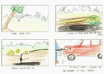 Storyboard 1 - trees collapse and become oil, oil then used to drive industry