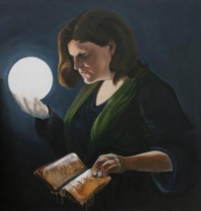 A portrait in oils - work progress by Sarah Dixon
