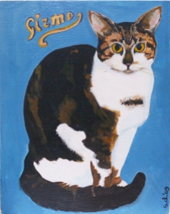 Gizmo the much loved cat, sadly missed