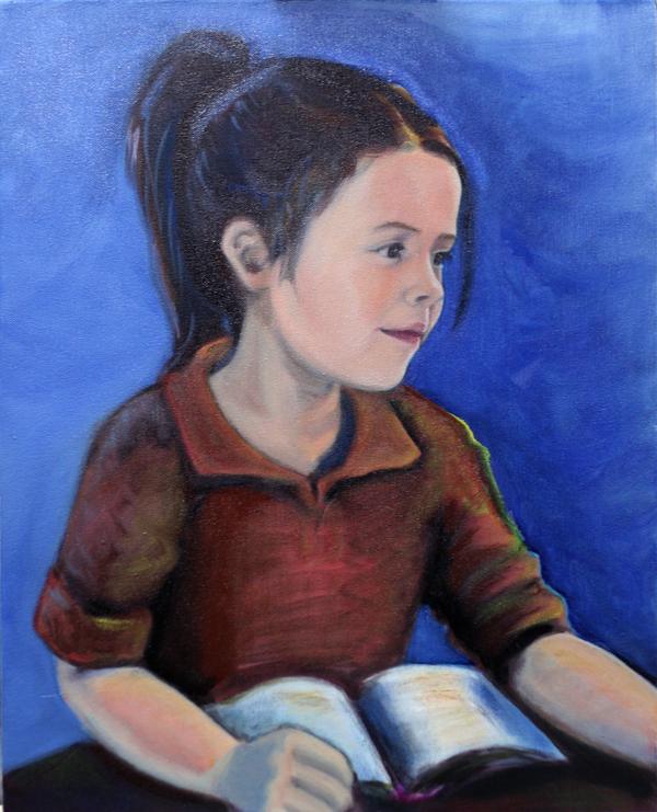 Mia Nearly - A portrait in oils