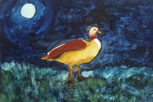 Goose on Grass