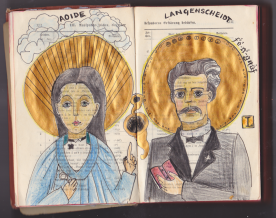 Langenscheidt and Aoide in the Postal Book Project 2012