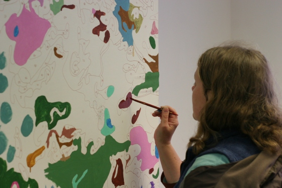 Painting By Numbers in action at the Site Festival