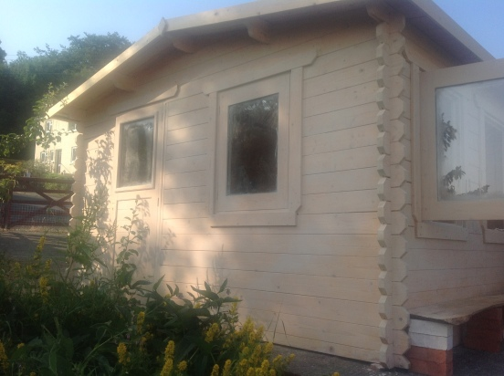 The shed, with its Swedish undercoat