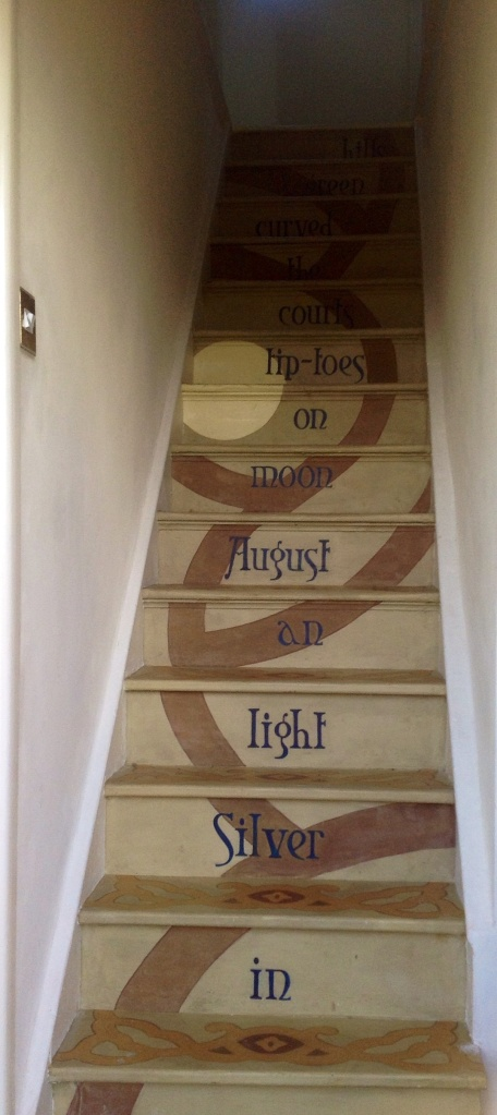 Stair poetry mural